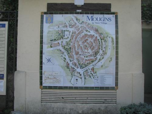 Схема історичного центру Мужена