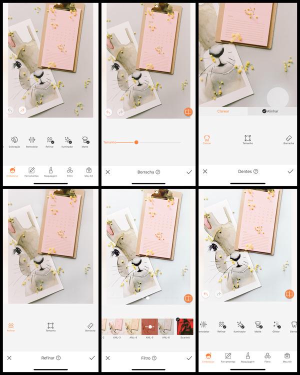 Um tutorial de edição usando AirBrush de uma imagem de coelho  de páscoa