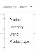 Google Shopping category