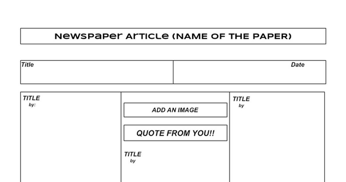 news paper article template google docs. Black Bedroom Furniture Sets. Home Design Ideas