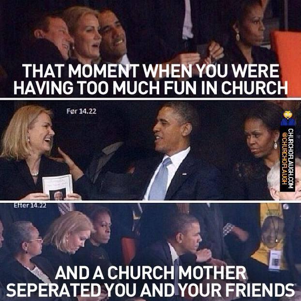 too much fun at church