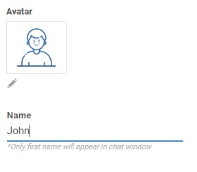 select your avatar and name