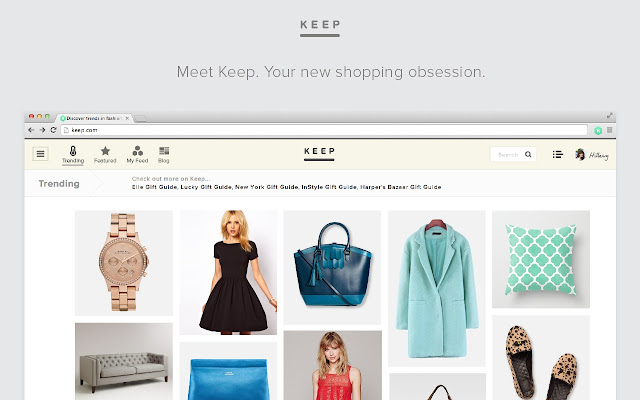 Keep Shopping chrome extension