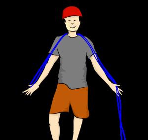 avoir repéré le milieu de la corde avant de la plier
