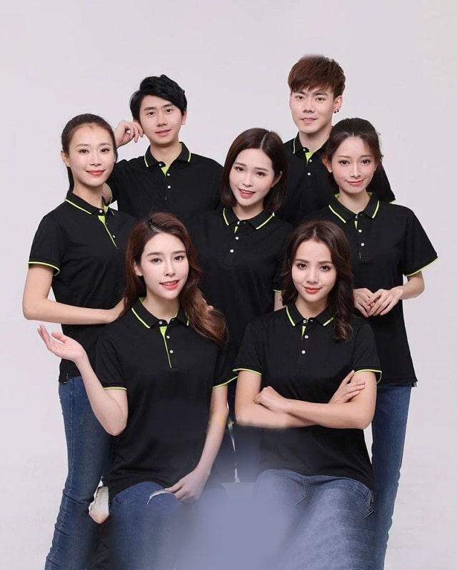 mẫu áo đồng phục công ty giá rẻ màu đen