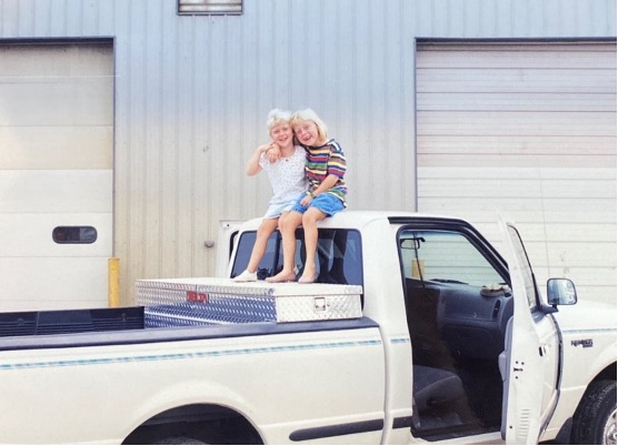 Rob's Daughters on Truck