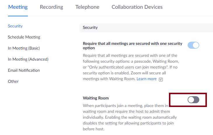 How to Enable Waiting Room in Zoom