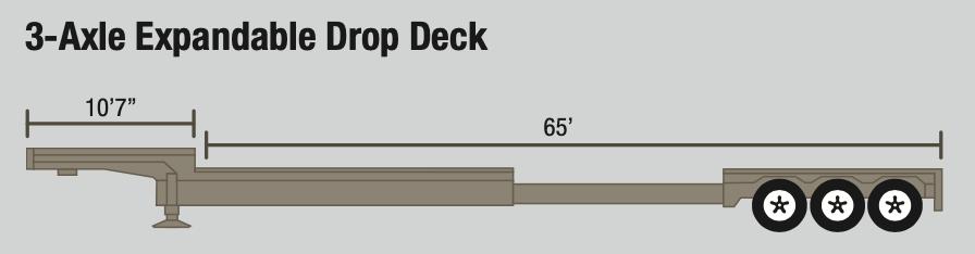 Expandable Drop Deck Trailer