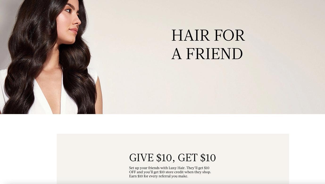 Luxy Hair referral program