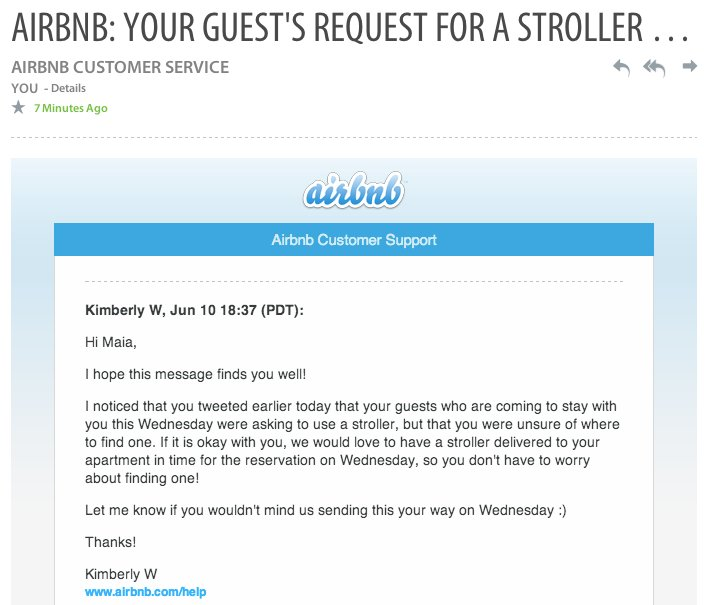 airbnb customer support email example