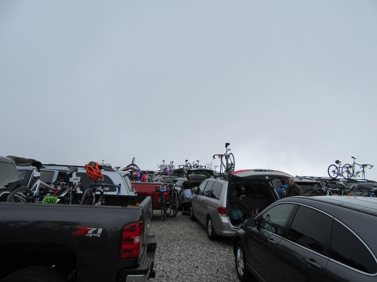 Mt. Washington Auto Road Bike Race - sharp turn at top