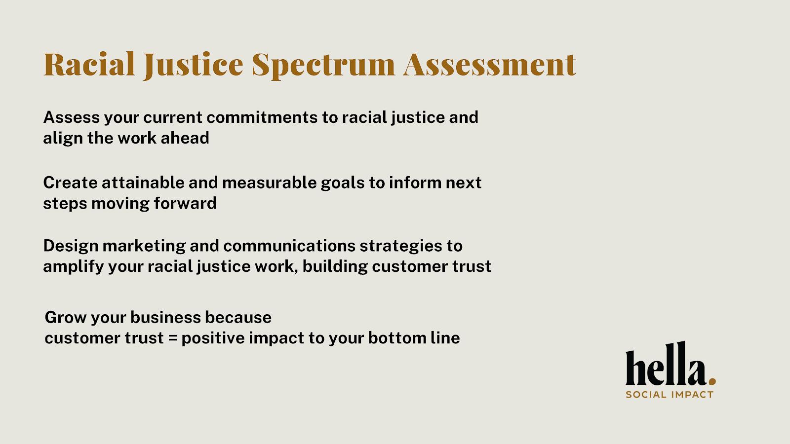 radical justice spectrum assesment