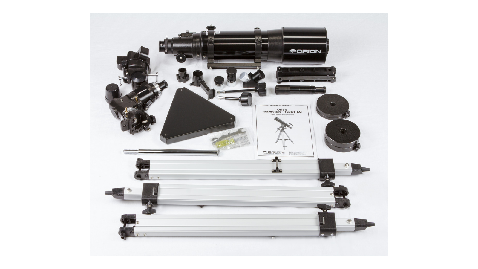 Accessories included with the AstroView 120ST