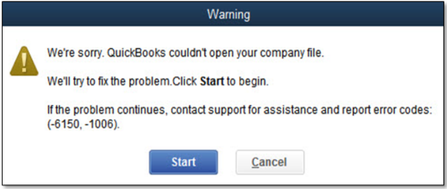 Fix QuickBooks Error Code 6150, -1006