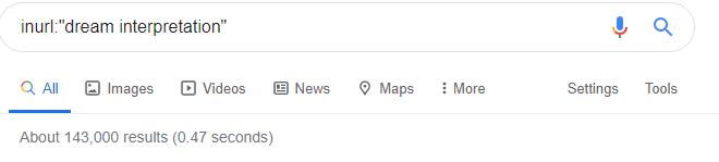 inurl: operator of Google