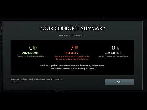 how to check behavior score in dota 2