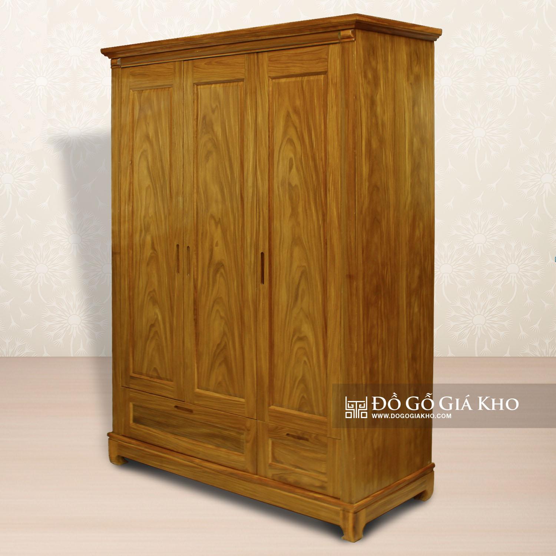 Tủ Áo Gỗ Cẩm Vàng 3 Cánh - TA071