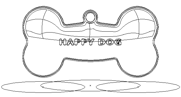 Bone for dog Illustration Outline