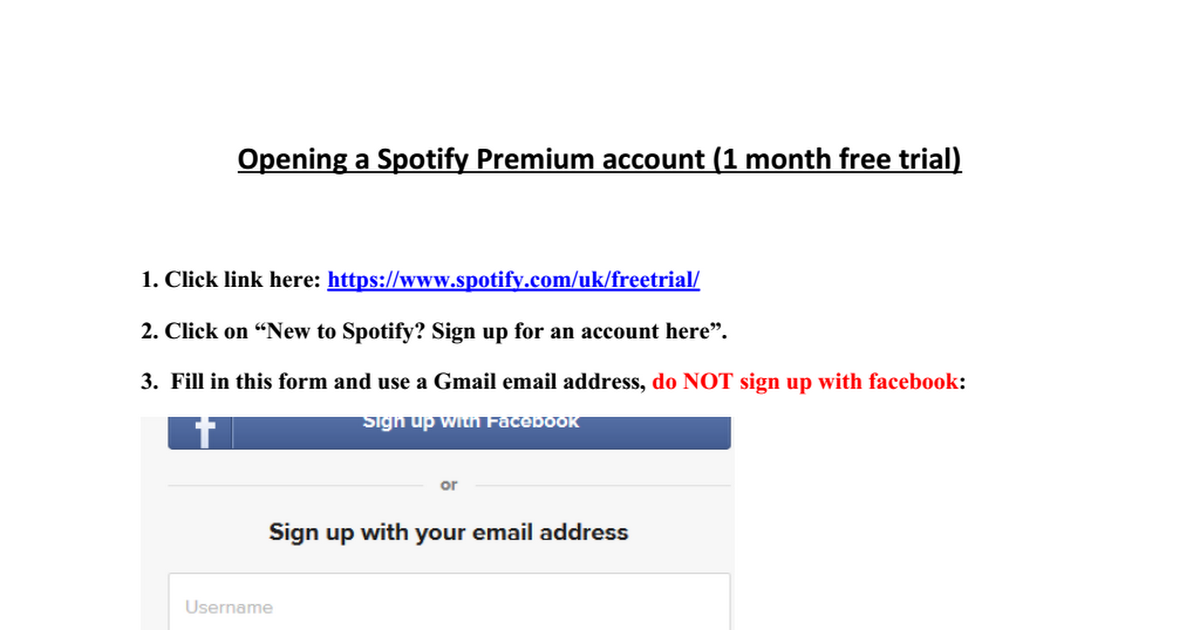 Opening a Spotify Premium account docx - Google Drive