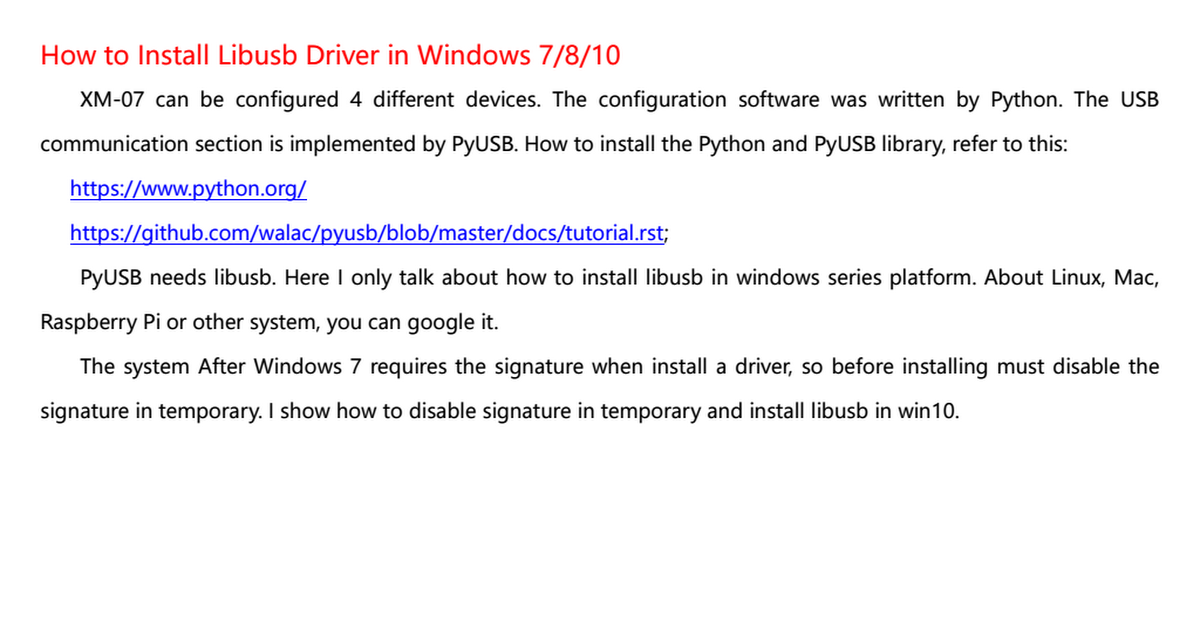 How to Install Libusb Driver pdf - Google Drive