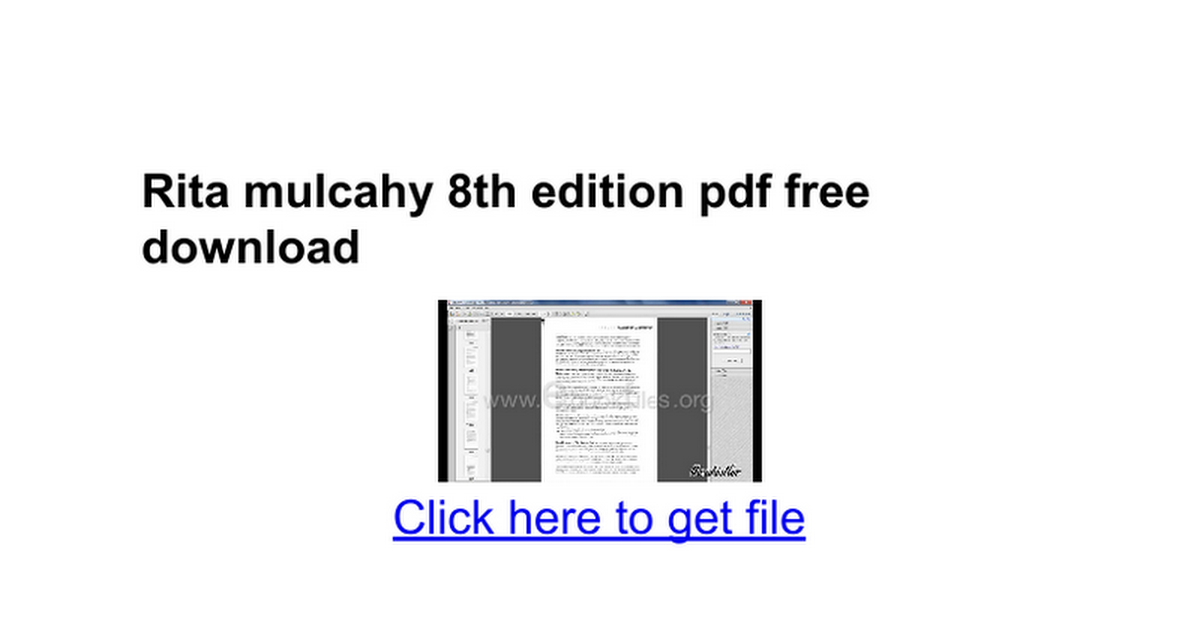 Rita mulcahy 8th edition pdf free download google docs fandeluxe Image collections