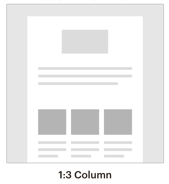 Mail chim template 3 column
