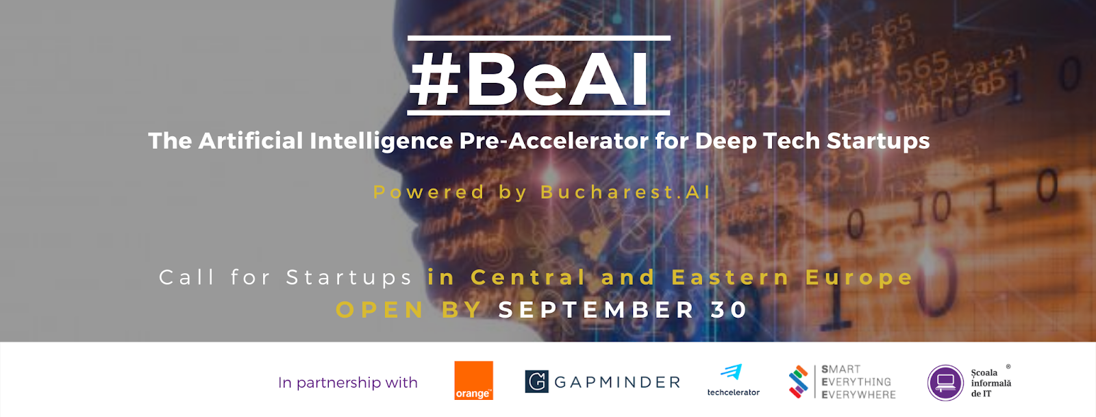 #BeAI The Artificial Intelligence Pre-Accelerator for Deep Tech Startups