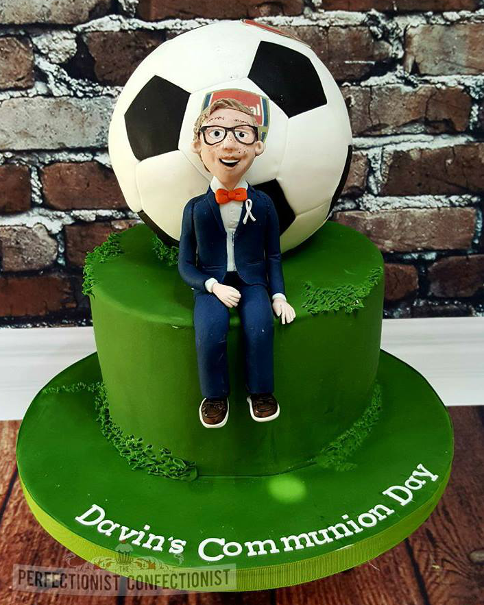 football themed Communion cake