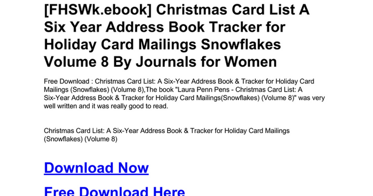 christmas-card-list-a-six-year-address-book-tracker-for-holiday-card ...