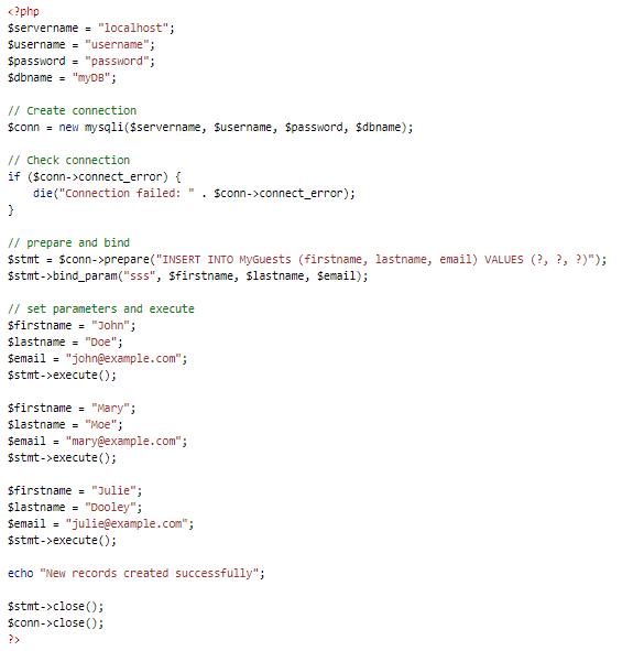 Magento SQL INJECTION prepared statement