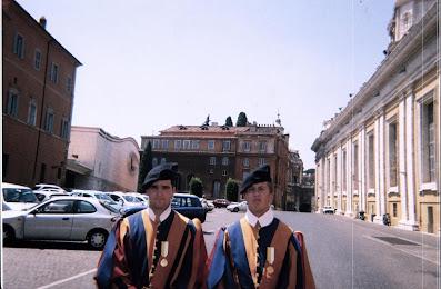 Swiss Guards at the Cancello Petriano