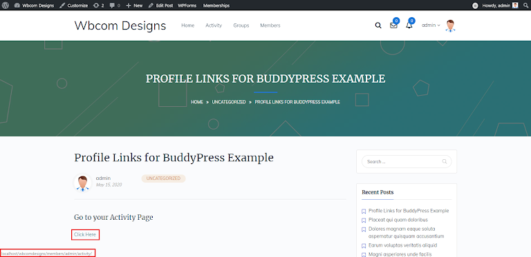 Profile Links for BuddyPress Plugin