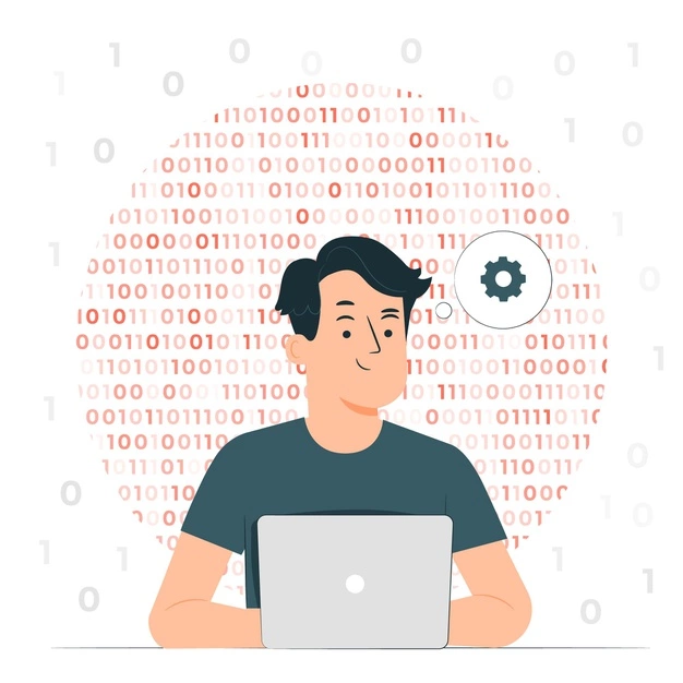 binary code concept illustration