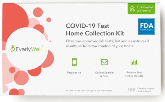Teste de coronavírus EverlyWell.