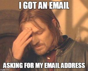 gửi email meme