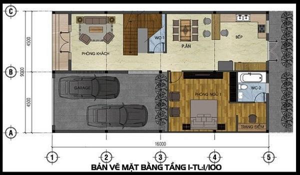 Mẫu biệt thự 2 tầng mini