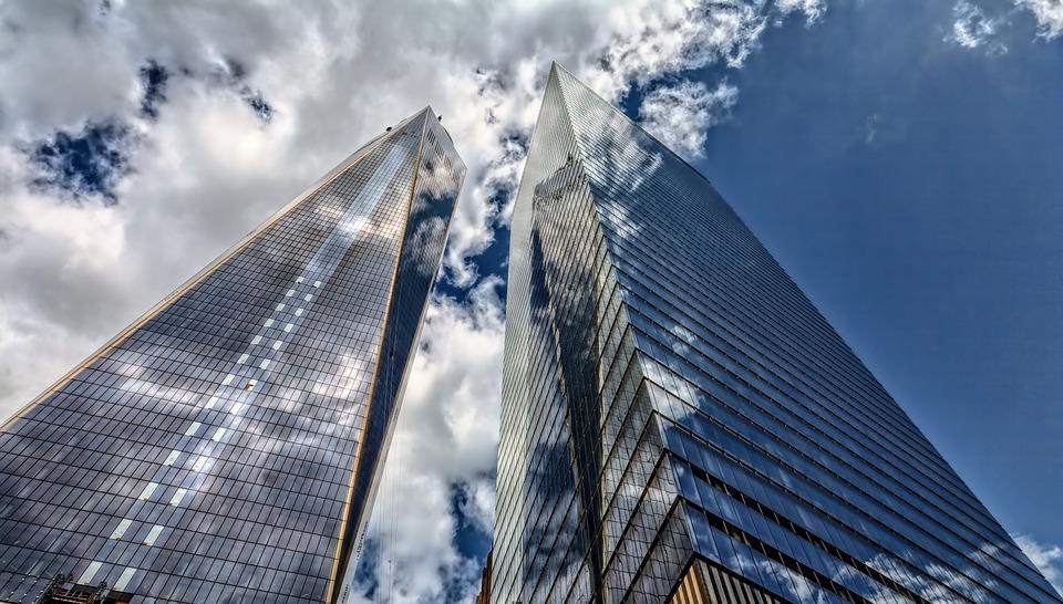 高層ビル, 超高層ビル, アーキテクチャ, 市, 空, ニューヨーク, 建物, アメリカ, マンハッタン