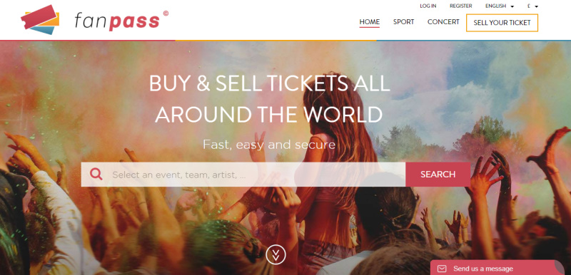 Fanpass marketplaces uses powerful autocomplete search to help buyers find listings