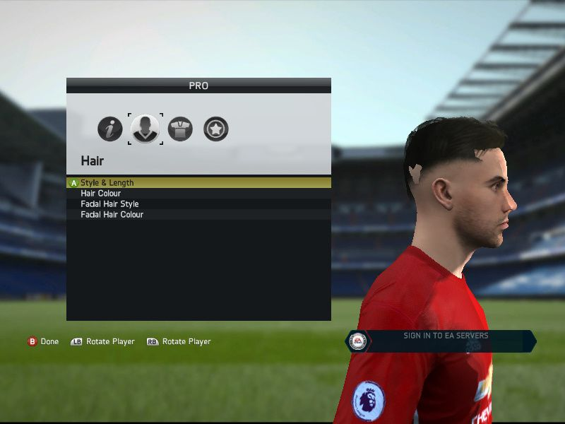 Starting a new career on Fifa as a player