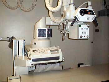 Photograph of image-intensified fluoroscopy machine