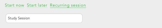 Use recurring block sessions to make blocking gaming a habit