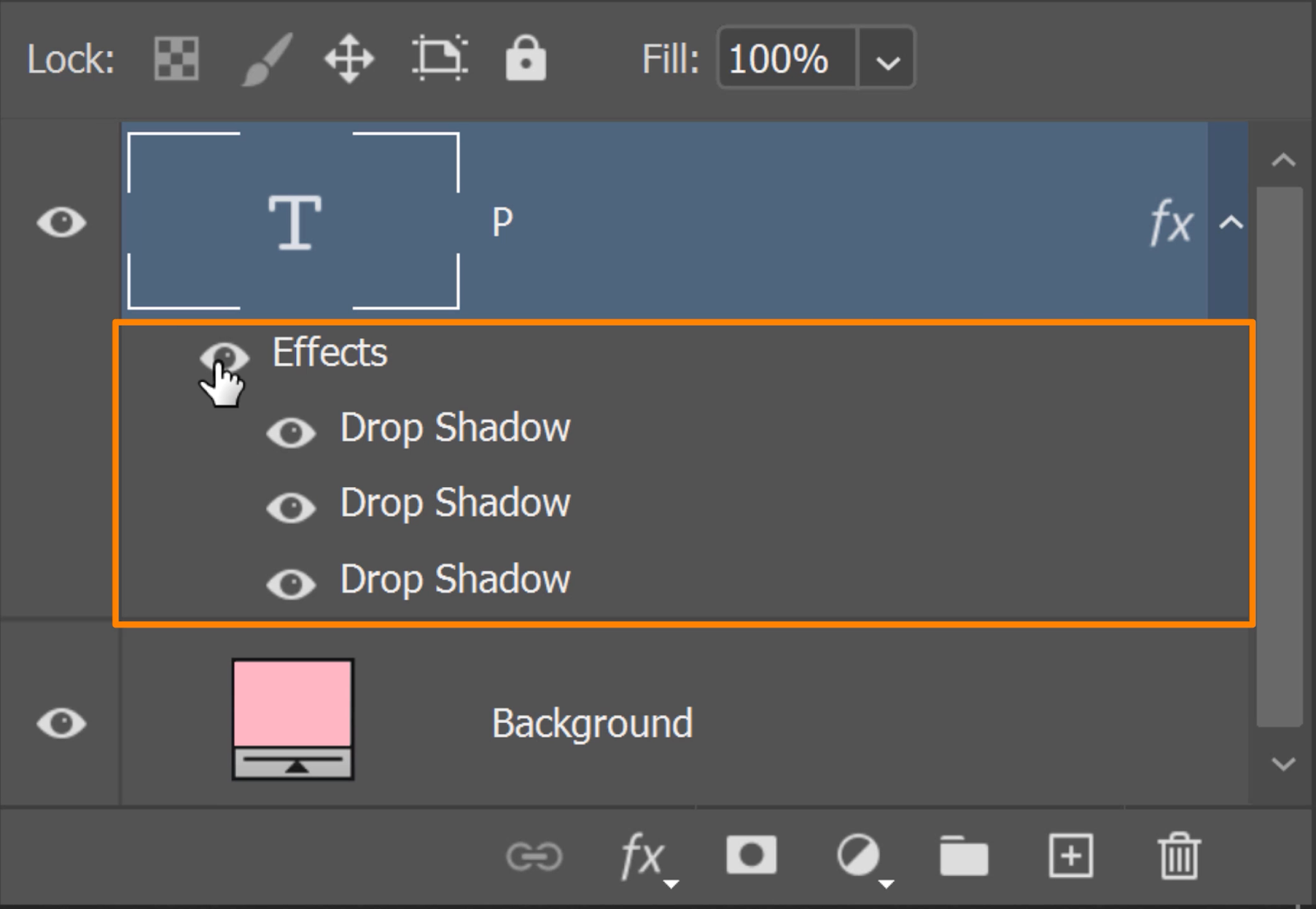 Three Drop Shadow effects under your Text layer