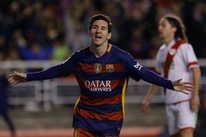 Messi logra triplete y Barcelona, nuevo récord en la Liga Española