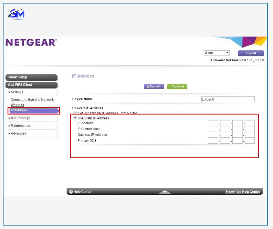 NETGEAR IP Address