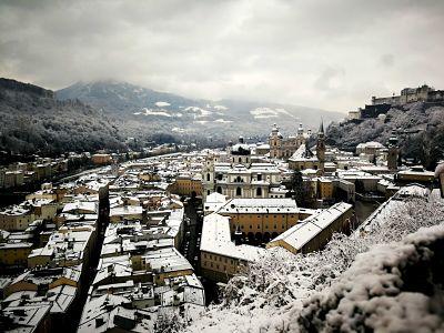 Una mirada a Salzburgo desde la ventana del hostal