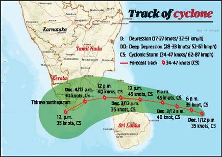 Cyclone Burevi: Will not be as strong as Cyclone Nivar (Summary)