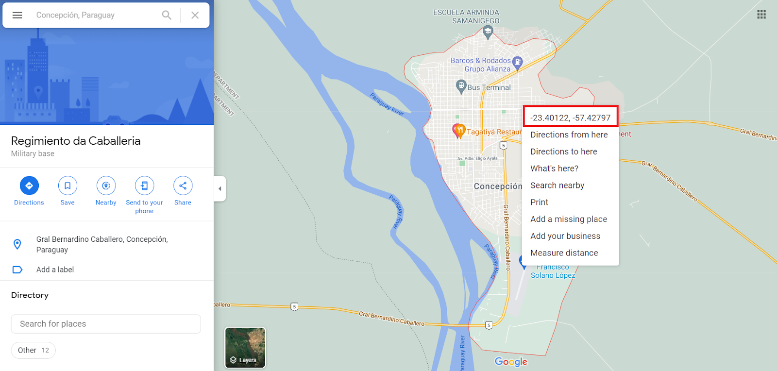 Kde najít GPS souřadnice na google maps