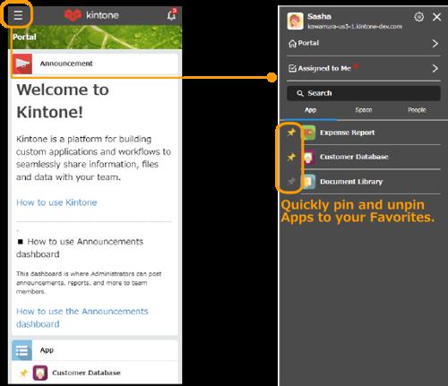 Kintone New Mobile App Screenshot 1