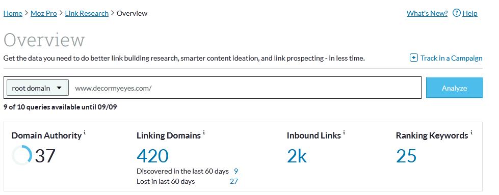 авторитетность сайта по moz domain rating