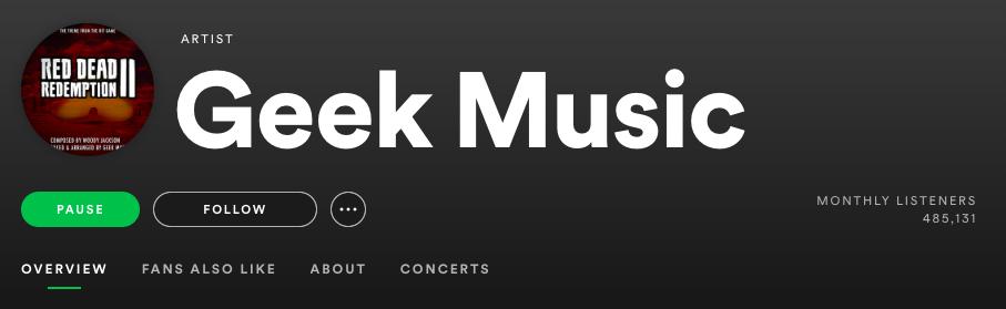 Geek music playlist on Spotify